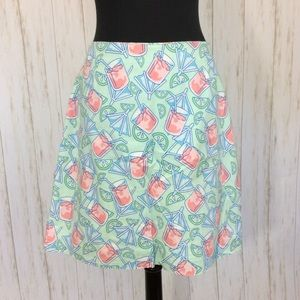 Vineyard Vines Drink Printed Skirt Sz 8